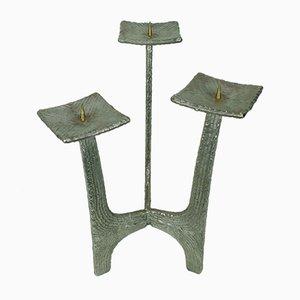 Candelabro estilo brutalista Mid-Century de hierro