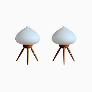 Lámparas de mesa era espacial de Uluv, años 60. Juego de 2