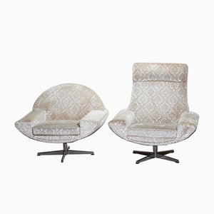 Capri Swivel Lounge Chair Set by Johannes Andersen for Trensum, 1960s