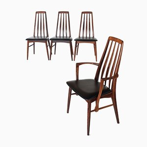 Rosewood Eva Dining Chairs by Niels Koefoed, 1960s, Set of 4