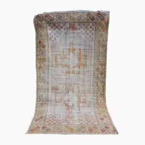 Vintage Handwoven Wool Oushak Rug