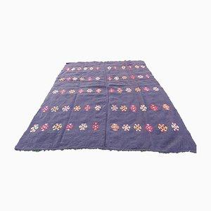 Großer Vintage Kelim Teppich aus Ziegenhaar