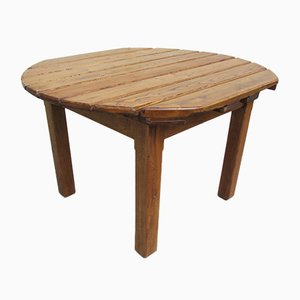 Acacia & Oak Garden Table, 1970s