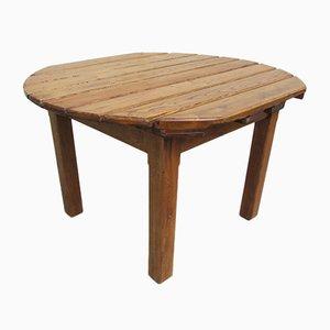 Mesa de jardín de roble y acacia, años 70