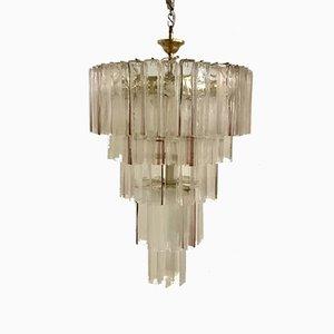 Lámpara de araña Mid-Century grande de cristal de Murano de Paolo Venini para VeArt