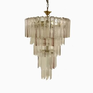 Large Mid-Century Murano Glass Chandelier by Paolo Venini for VeArt