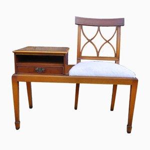 Vintage Telefontisch & Bank, 1960er