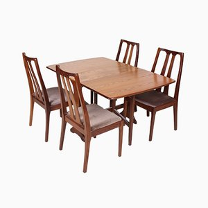 Vintage Teak Dining Table Set from Nathan & G-Plan, 1970s