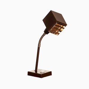 Lampada da scrivania cubica in metallo di Hans-Agne Jakobsson per Elidus, anni '70