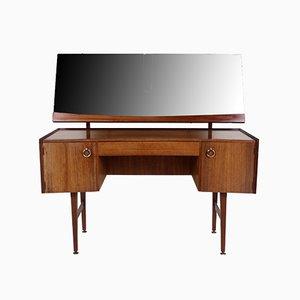 Vintage Teak Dressing Table with Adjustable Mirror