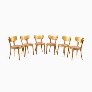Vintage Bistro Esszimmerstühle von Thonet, 6er Set