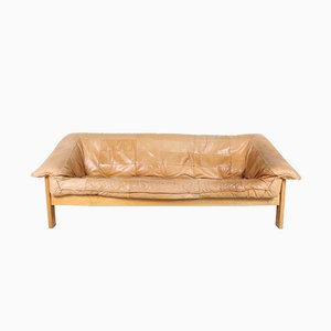 Vintage Danish Leather 3-Seater Sofa