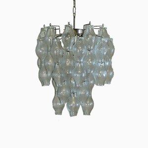Lámpara de araña Poliedri Mid-Century de cristal de Murano, 1973