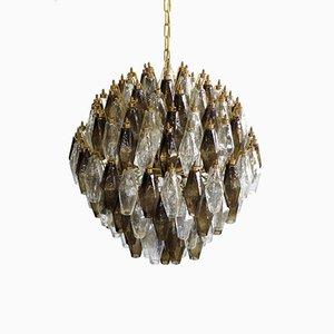 Kugelförmiger Poliedri Kronleuchter aus Muranoglas, 1978