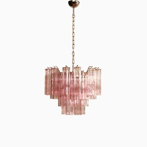 Murano Glass Tube Chandelier, 1983