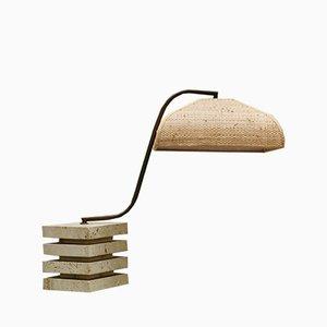 Lampe de Bureau Vintage en Travertin, 1960s
