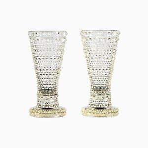 Kastehelmi Vases by O. Toikka for Arabia, Set of 2