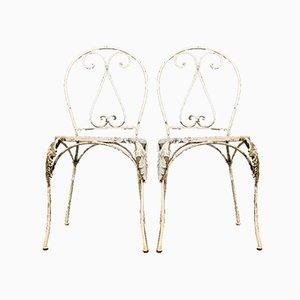 Chaises de Jardin Vintage, France, Set de 2