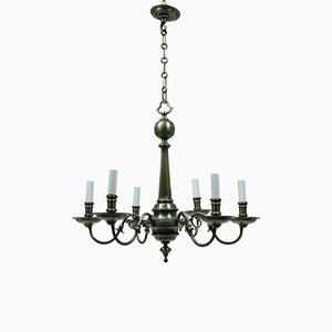 Antique French Bronze Chandelier, 1900s