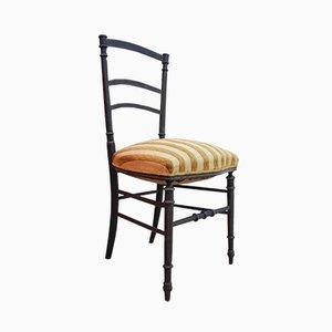 Antiker Napoleon III Stuhl aus gedrehter Holzart