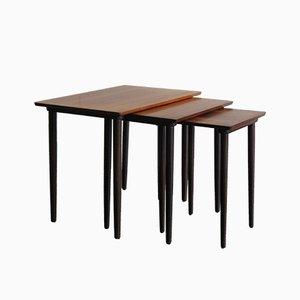 Tavolini ad incastro in palissandro, Danimarca, anni '50