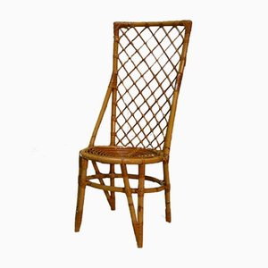 Beistellstuhl aus Rattan, 1970er