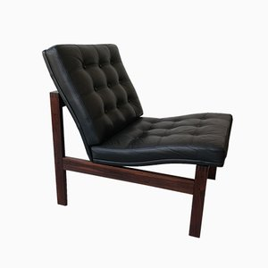 Rosewood Lounge Chair by Ole Gjerløv-Knudsen & Torben Lind for France & Søn, 1965