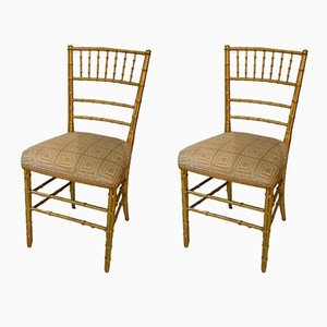 Art Nouveau Giltwood Side Chairs, Set of 2