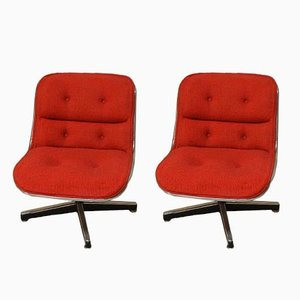 Vintage Swivel Chairs by Charles Pollock for Knoll International, 1960s, Set of 2