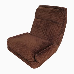Brown Lounge Chair from Jean Prevost, 1970s