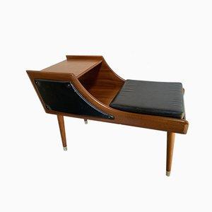 Tavolino e seduta da telefono Mid-Century di Chippy Heath