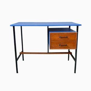 Blauer moderner Schreibtisch, 1950er