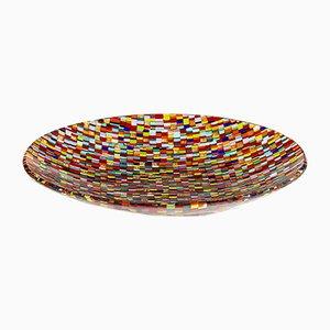 Piatto multicolore in vetro di Murano di Stefano Birello per VeVe Glass, 2019