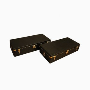 Black Auto Trunks by Louis Vuitton, 1920s, Set of 2