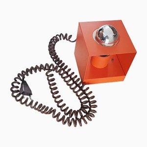 Orangefarbene Vintage Cube Tischlampe von Philips, 1970er