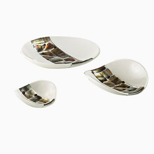 Murano Glass Ivory Pope Plates by Stefano Birello for VeVe, 2019, Set of 3
