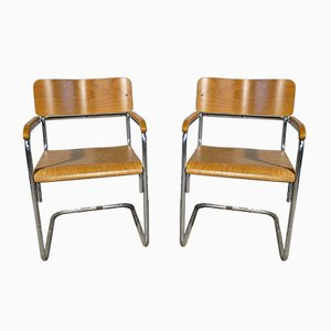B34 Chairs by Marcel Breuer for Thonet, 1950s, Set of 2