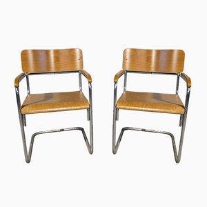Chaises B34 par Marcel Breuer pour Thonet, 1950s, Set de 2
