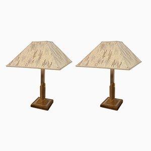Lámparas de mesa Hollywood Regency, años 70. Juego de 2