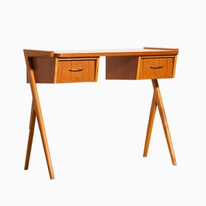 Swedish Teak Vanity Desk, 1950s