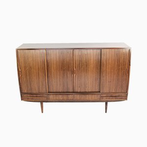 Mid-Century Danish Rosewood Highboard with Interior Bar