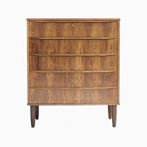 Danish Rosewood Chest of 5 Drawers, 1960s