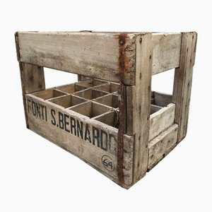 Vintage Italian San Bernardo Water Crate