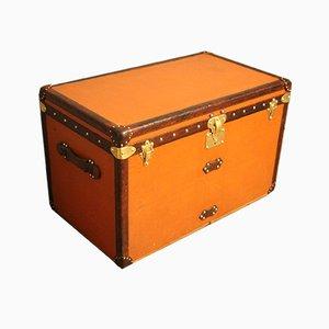 Orangefarbene Dampfschifftruhe von Louis Vuitton, 1910er