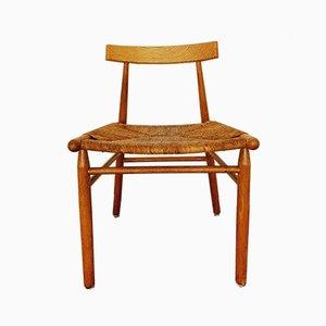 Skandinavischer Vintage Stuhl aus Eichenholz, 1960er
