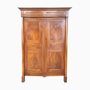 Antique Italian Solid Walnut Wardrobe, 1800s