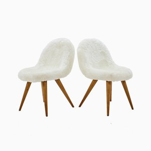 Chaises de Salon Shell par Miroslav Navratil, 1960s, Set de 4