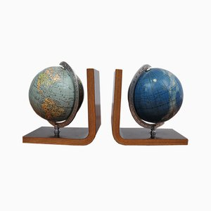 Earth & Starry Sky Bookends, 1950s, Set of 2