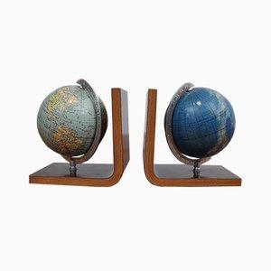 Earth & Starry Sky Buchstützen, 1950er, 2er Set