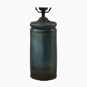 Blaue skandinavische Tischlampe aus Keramik von Carl Harry Stålhane für Rörstrand, 1950er